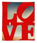 Love Beach Fleece Blanket