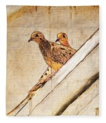 Love Birds On My Balcony Fleece Blanket