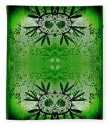 Love Blossom Nature Green Border Fleece Blanket