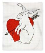 Love Bunny Fleece Blanket