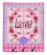 Love Cherry Blossom Fleece Blanket
