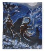 Love For Moon Light Fleece Blanket