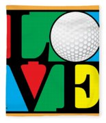 Love Golf Fleece Blanket