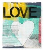 Love Graffiti Style- Print Or Greeting Card Fleece Blanket