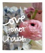 Love Honor Cherish Fleece Blanket