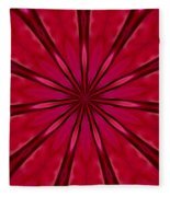 Love In An Orchid Kaleidoscope Fleece Blanket
