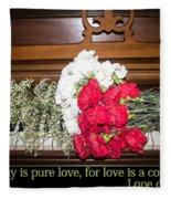 Love In Harmony Fleece Blanket