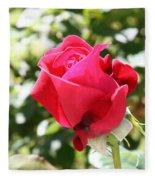 Love In Red Fleece Blanket