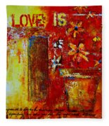 Love Is Abstract Fleece Blanket