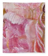 Love Is Crowned Fleece Blanket
