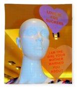 Love Is For Suckers Fleece Blanket