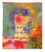 Love Is The Religion Fleece Blanket