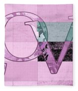 Love - J249115131t-grape Fleece Blanket