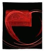 Love Letter Fine Fractal Art Fleece Blanket