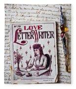 Love Letter Writer Book Fleece Blanket