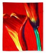 Love Lilies Fleece Blanket