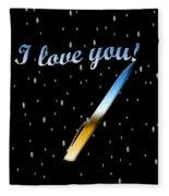 Love Message Digital Painting Fleece Blanket