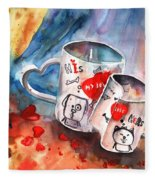 Love Mugs Fleece Blanket