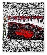 Love Music Memories Original Acrylic Painting  Fleece Blanket