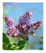 Love My Lilacs Fleece Blanket