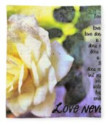 Love Never Fails Fleece Blanket