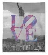 Love - New York City Fleece Blanket