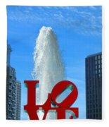 Love Park Fleece Blanket