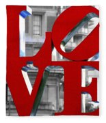 Love Philadelphia Red Fleece Blanket