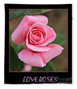 Love Roses Fleece Blanket