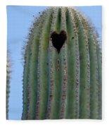 Love Shack Saguaro With A Heart Fleece Blanket