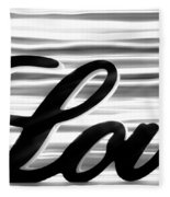 Love Sign With Black And White Stripes Fleece Blanket