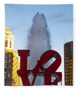 Love Statue In Philadelphia Pa Fleece Blanket