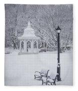 Love Through The Winter Fleece Blanket