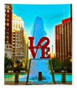 Love Town Fleece Blanket