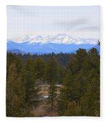 Lovell Gulch Hiking Trail Fleece Blanket