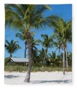Lovely Beach On Key West East Side Fleece Blanket