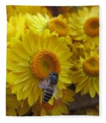 Lovely Flowers Fleece Blanket