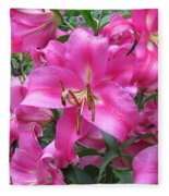 Lovely Lilies  Fleece Blanket