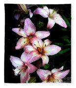 Lovely Lilies Fleece Blanket