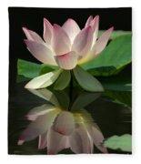 Lovely Lotus Reflection Fleece Blanket