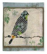 Lovely Song Bird-a Fleece Blanket