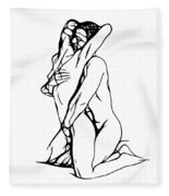 Lovers Expressionism Fleece Blanket