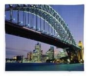 Low Angle View Of A Bridge, Sydney Fleece Blanket