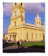 Low Angle View Of A Cathedral, Peter Fleece Blanket