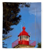 Low Angle View Of A Lighthouse, Morgat Fleece Blanket