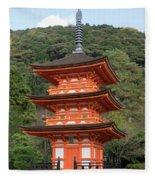 Low Angle View Of A Small Pagoda Fleece Blanket