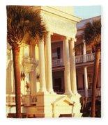 Low Angle View Of Historic Houses Fleece Blanket