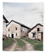 Low Angle View Of Houses In A Village Fleece Blanket