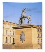 Low Angle View Of Statues In Front Of A Fleece Blanket