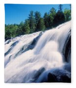 Low Angle View Of The Bond Falls Fleece Blanket